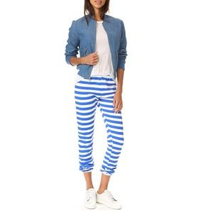 Wildfox NWT Women's Nautical Stripe Sweatpants S